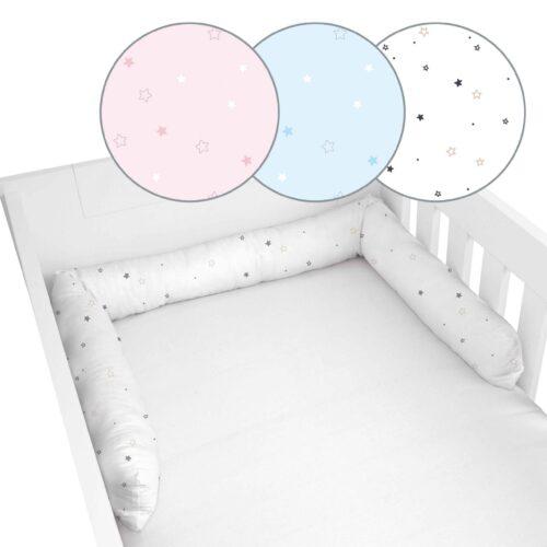 Produktbild Baby Bettschlange Sterne verschiedene Farben ganze Bettschlange