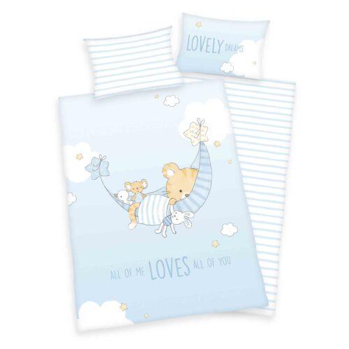 Produktbild Baby Bettwäsche blau Little Tiger 100x135 ganze Bettwäsche