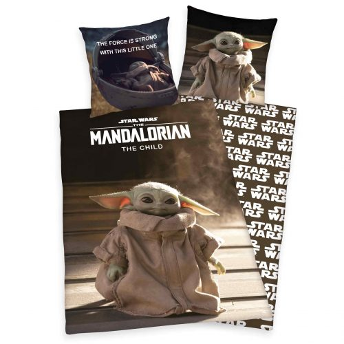 Produktbild Bettwäsche Star Wars 9 Baby Yoda Mandalorian schwarz braun Bettwäsche Vorderseite Rückseite