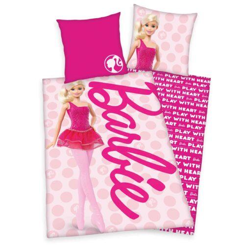 Produktbild Bettwäsche Barbie pink Bettwäsche Vorderseite Rückseite
