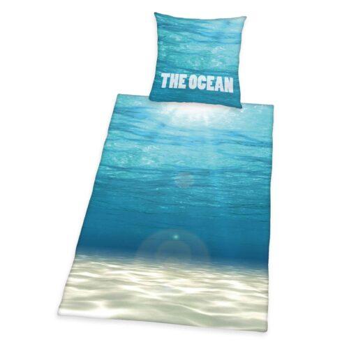 Produktbild Bettwäsche Meer the ocean blau Bettwäsche Vorderseite Rückseite