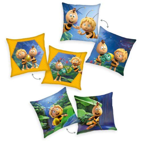 Produktbild Dekokissen 3er-set Biene Maja Mehrfarbig Kissen Vorderseite Rückseite