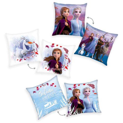 Produktbild Dekokissen 3er-set Disney Die Eiskönigin 2 Mehrfarbig Kissen Vorderseite Rückseite