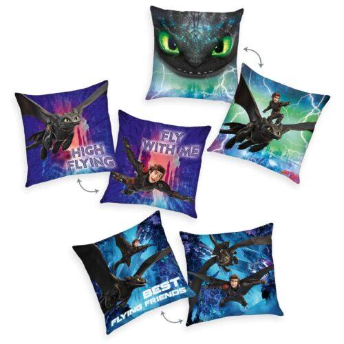 Produktbild Dekokissen 3er-set Dragons Mehrfarbig Kissen Vorderseite Rückseite