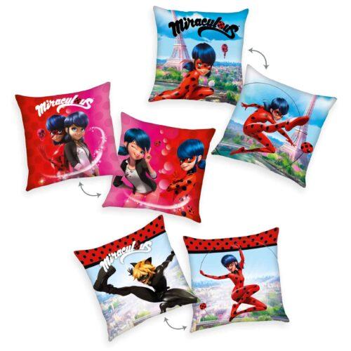 Produktbild Dekokissen 3er-set Miracolous Mehrfarbig Kissen Vorderseite Rückseite