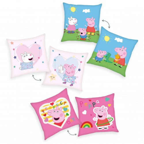 Produktbild Deko Kissen 3er-set Peppa wutz Peppa pig Mehrfarbig Kissen Vorderseite Rückseite