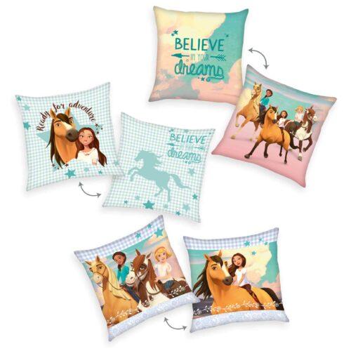 Produktbild Dekokissen 3er-set Spirit Mehrfarbig Kissen Vorderseite Rückseite