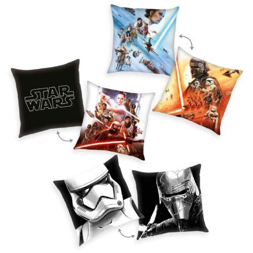Produktbild Dekokissen 3er-set Star Wars 9 Mehrfarbig Kissen Vorderseite Rückseite