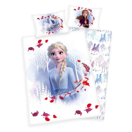 Produktbild Babybettwäsche Die Eiskönigin 2 weiß blau rot Bettwäsche Vorderseite Rückseite