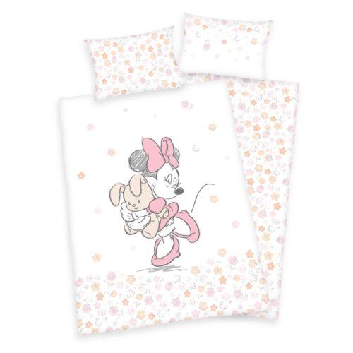 Produktbild Bettwäsche Disney Minnie Mouse rosa weiß Bettwäsche Vorderseite Rückseite