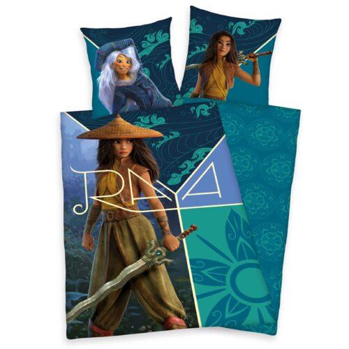 Produktbild Bettwäsche Disney Raya and the last dragon blau grün Bettwäsche Vorderseite Rückseite