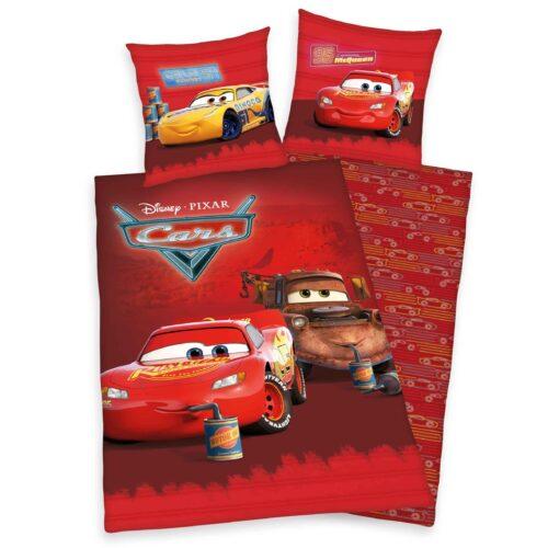 Produktbild Kinderbettwäsche Disney Cars rot Bettwäsche Vorderseite Rückseite