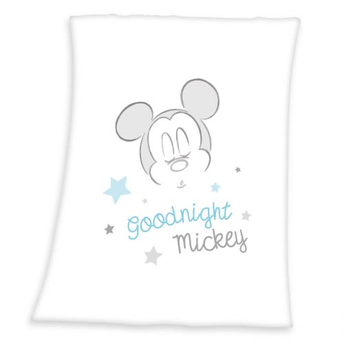 Produktbild Decke Mickey Mouse weiß blau Decke Vorderseite
