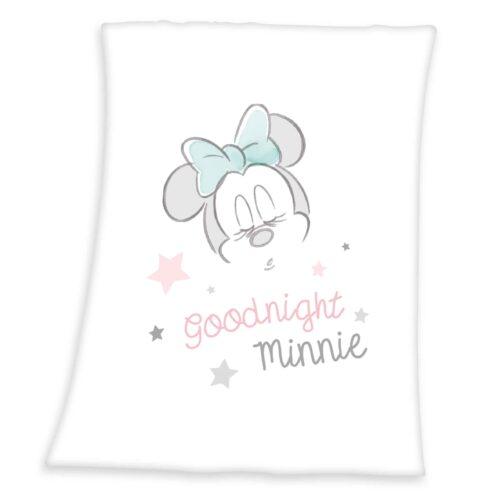 Produktbild Decke Minnie Mouse weiß rosa Decke Vorderseite
