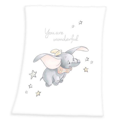 Produktbild Kuscheldecke Diseny Dumbo weiß grau Kuscheldecke Vorderseite