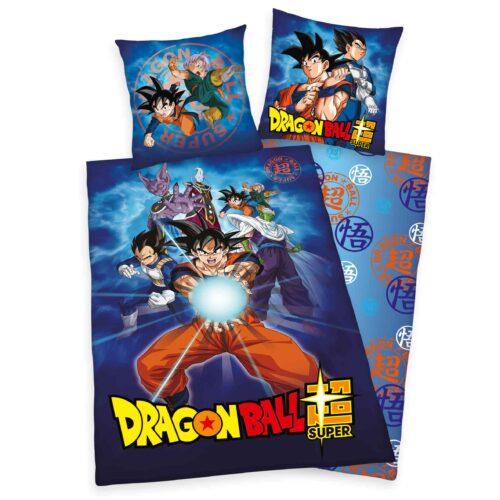 Produktbild Bettwäsche Dragonball super blau Bettwäsche Vorderseite Rückseite