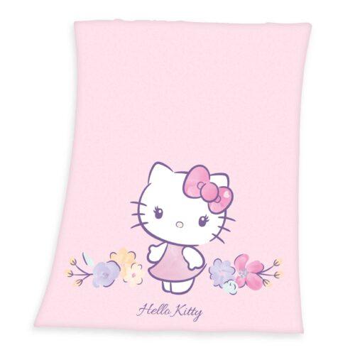 Produktbild Fleece Decke Hello Kitty pink Fleece Decke Vorderseite