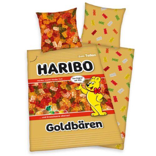 Produktbild Bettwäsche Goldbärentüte Haribo Bettwäsche Vorderseite Rückseite