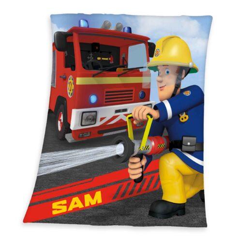 Produktbild Kinder Fleece Decke Feuerwehrmann Sam Mehrfarbig Fleece Decke Vorderseite