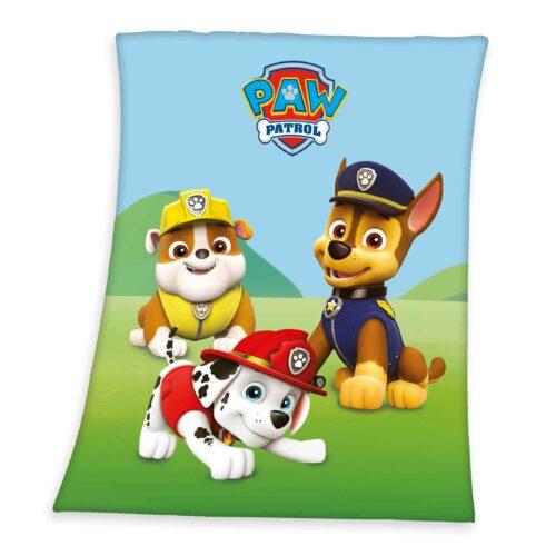 Produktbild Kinder Fleece Decke Paw Patrol Mehrfarbig Fleece Decke Vorderseite