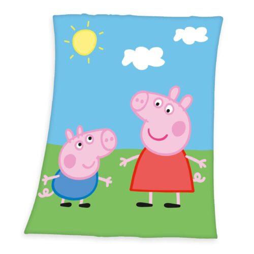 Produktbild Kinder Fleece Decke Peppa wutz Mehrfarbig Fleece Decke Vorderseite