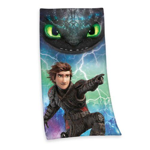Produktbild Kinderhandtuch Dragons schwarz blau Handtuch Vorderseite