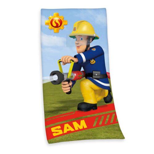 Produktbild Kinderhandtuch Feuerwehrmann Sam Mehrfarbig Handtuch Vorderseite