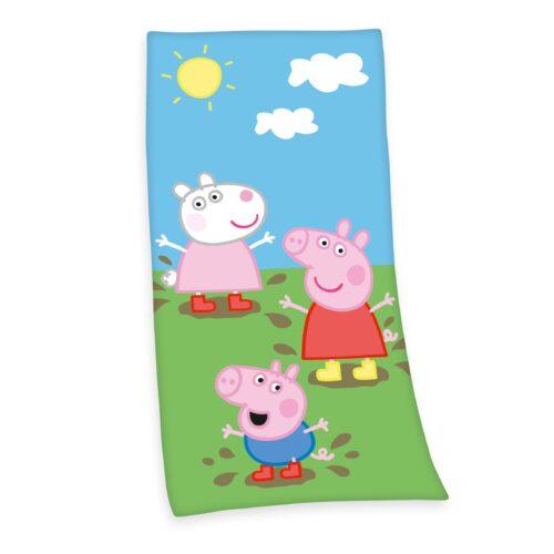 Produktbild Kinderhandtuch Peppa wutz Mehrfarbig Handtuch Vorderseite