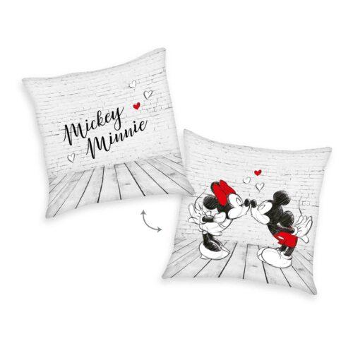 Produktbild Kissen Disney Minnie Mouse grau rot Kissen Vorderseite Rückseite