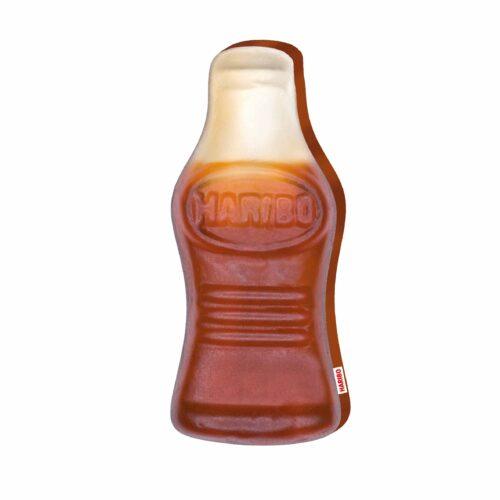 Produktbild Konturenkissen Happy Cola Colaflasche braun Kissen Vorderseite