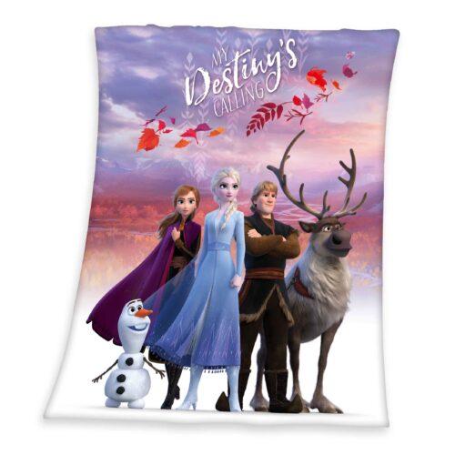 Produktbild Kuscheldecke Disney Die Eiskönigin Mehrfarbig Kuscheldecke Vorderseite