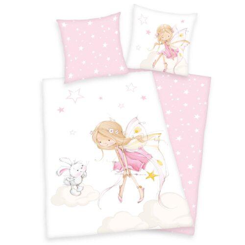 Produktbild Bettwäsche little Fairy rosa Bettwäsche Vorderseite Rückseite