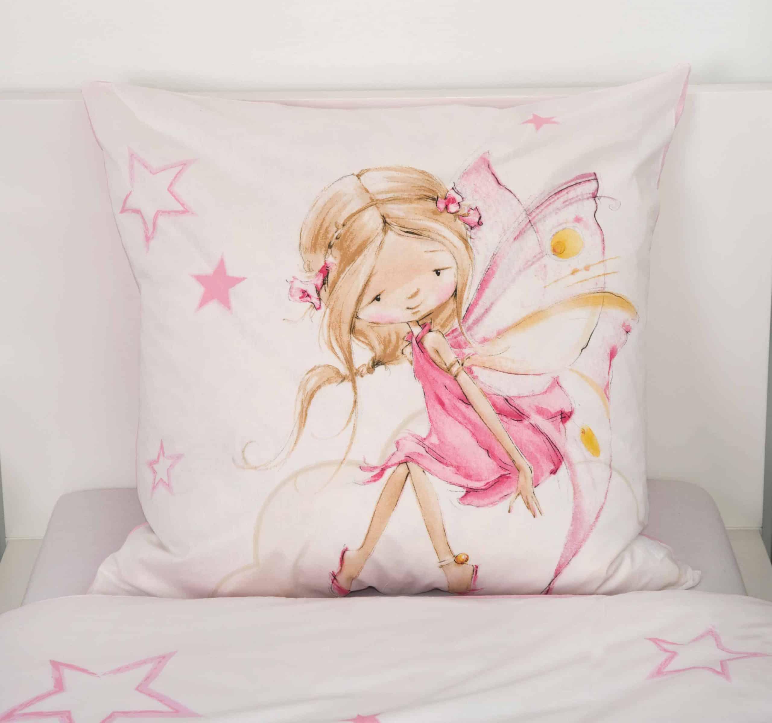 Produktbild Bettwäsche Little Fairy Fee Rosa Kissen Rückseite