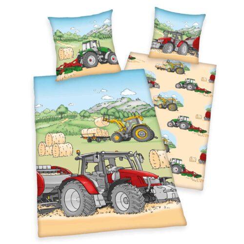 Produktbild Bettwäsche Mähdrescher Trecker Traktor Mehrfarbig Bettwäsche Vorderseite Rückseite
