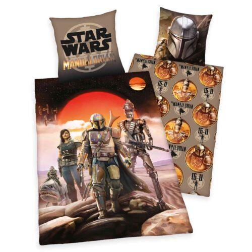 Produktbild Bettwäsche Star Wars 9 Mandalorian schwarz rot braun Bettwäsche Vorderseite Rückseite
