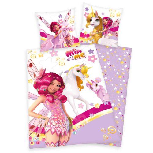 Produktbild Bettwäsche Mia and me pink weiß Bettwäsche Vorderseite Rückseite