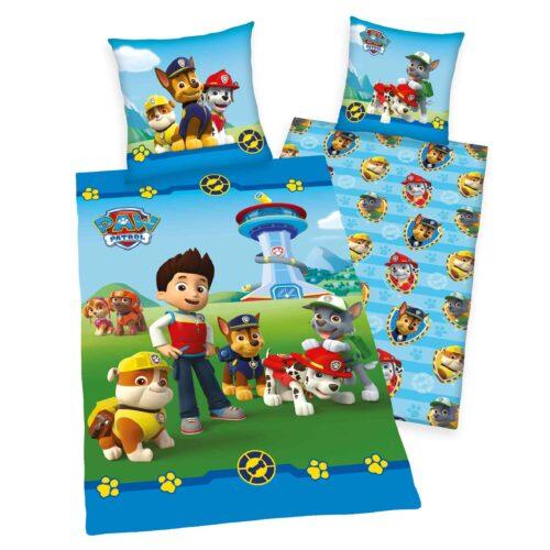 Produktbild Kinderbettwäsche Paw Patrol Mehrfarbig Bettwäsche Vorderseite Rückseite