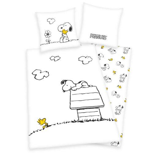 Produktbild Bettwäsche Peanuts weiß Bettwäsche Vorderseite Rückseite
