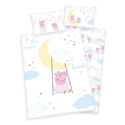 Produktbild Bettwäsche Peppa Wutz pink Bettwäsche Vorderseite Rückseite