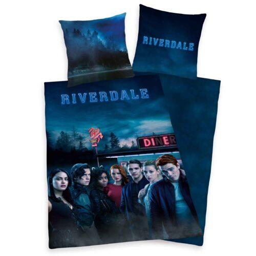 Produktbild Bettwäsche Riverdale schwarz blau Bettwäsche Vorderseite Rückseite