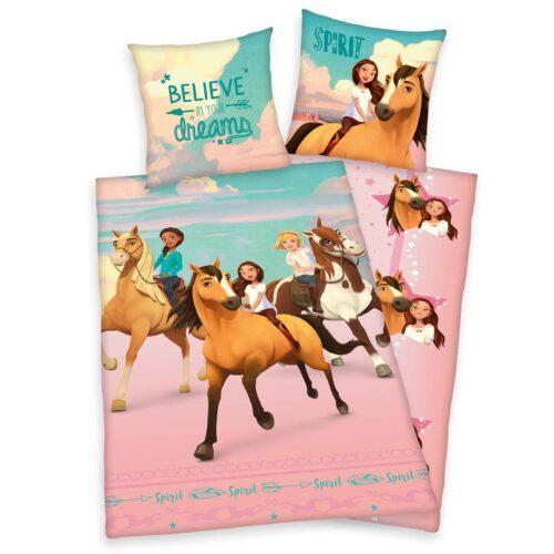 Produktbild Bettwäsche Spirit believe in your dreams Mehrfarbig Bettwäsche Vorderseite Rückseite