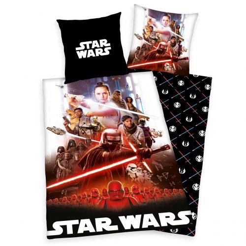 Produktbild Bettwäsche Star Wars 9 schwarz rot Bettwäsche Vorderseite Rückseite