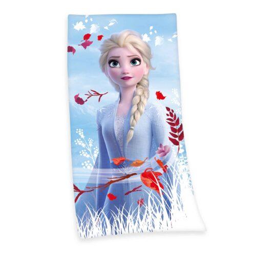 Produktbild Strandtuch Disney Die Eiskönigin 2 blau weiß rot Strandtuch Vorderseite