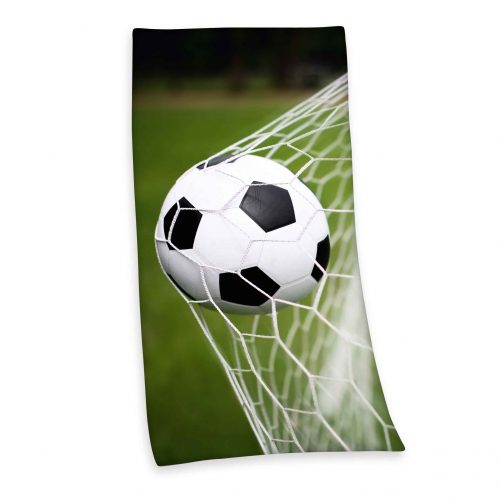 Produktbild Strandtuch Fußball grün braun Strandtuch Vorderseite