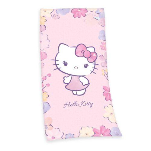 Produktbild Strandtuch Hello Kitty pink Strandtuch Vorderseite Rückseite