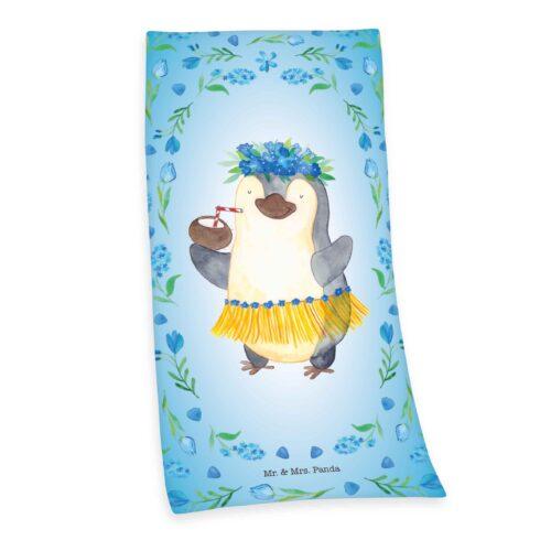 Produktbild Strandtuch Pinguin mr mrs Panda blau Strandtuch Vorderseite