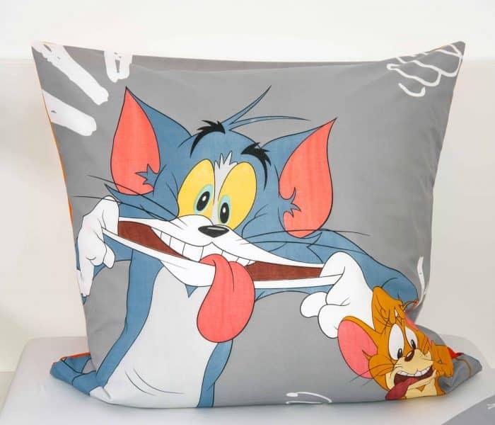 Produktbild Bettwäsche Tom & Jerry Orange Kissen Vorderseite
