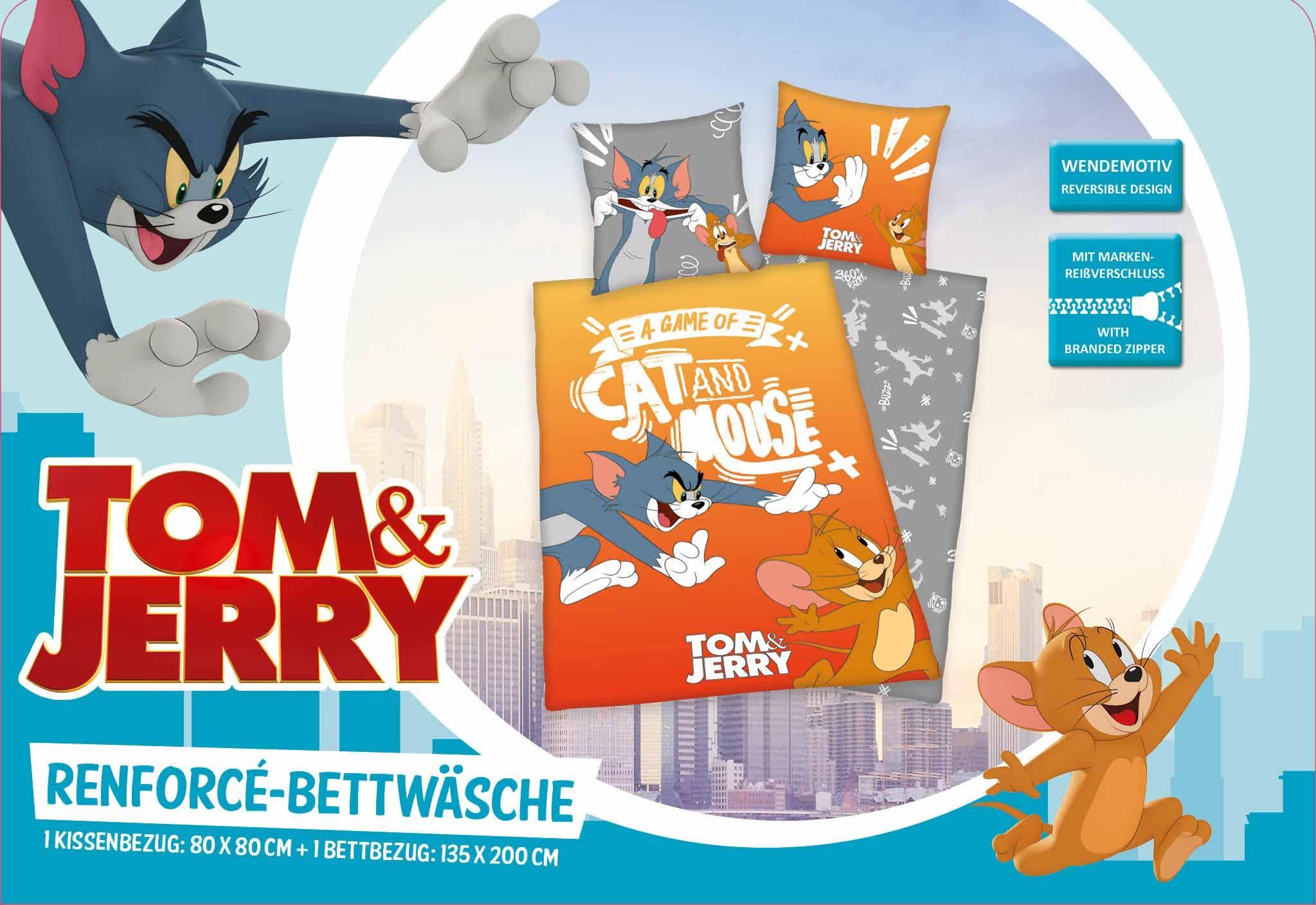 Produktbild Bettwäsche Tom & Jerry Orange Einleger Vorderseite