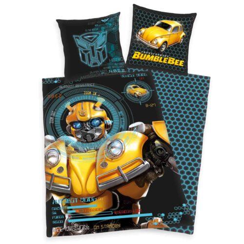 Produktbild Bettwäsche Transformers Bumblebee schwarz gelb Bettwäsche Vorderseite Rückseite