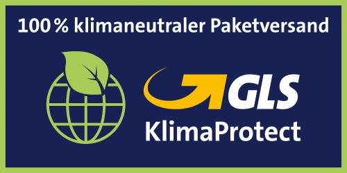 Wir versende klimaneutral mit GLS
